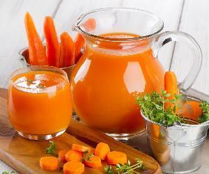 Nước ép cà rốt giúp giảm cân